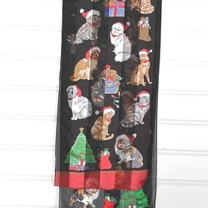 Holiday Cats Christmas Scarf